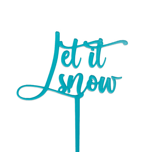 Let it Snow - Cake Topper - Zoi&Co