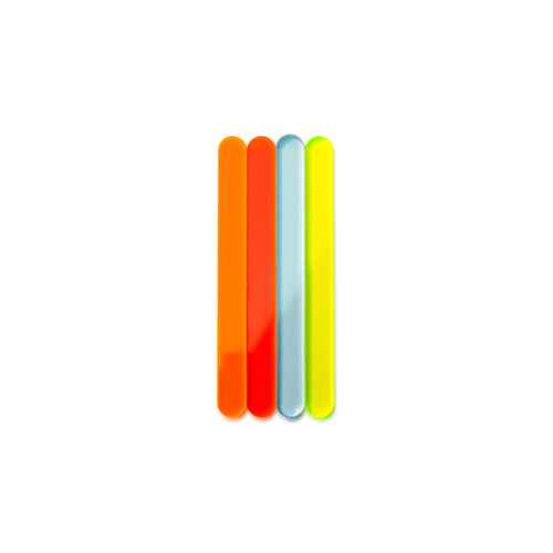 Fluorescent Mini Cakesicle Sticks Front View Zoi&Co