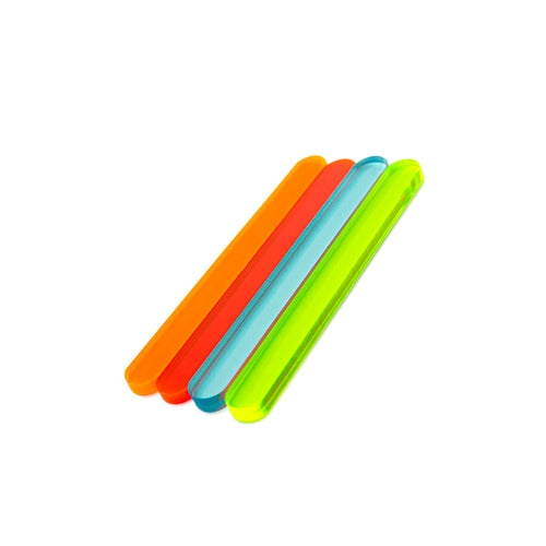 Fluorescent Mini Cakesicle Sticks Side View Zoi&Co