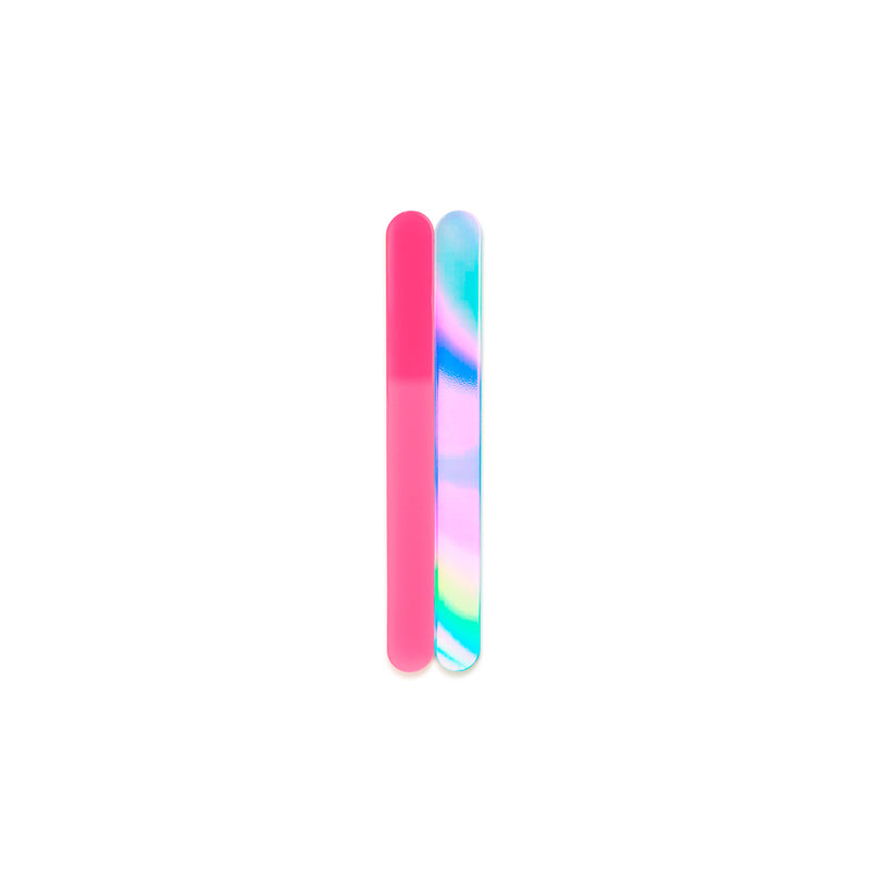 neon pink, iridescent mini cakesicle sticks front view zoi&co
