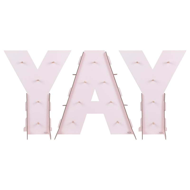 """YAY"" Donut wall on white background"