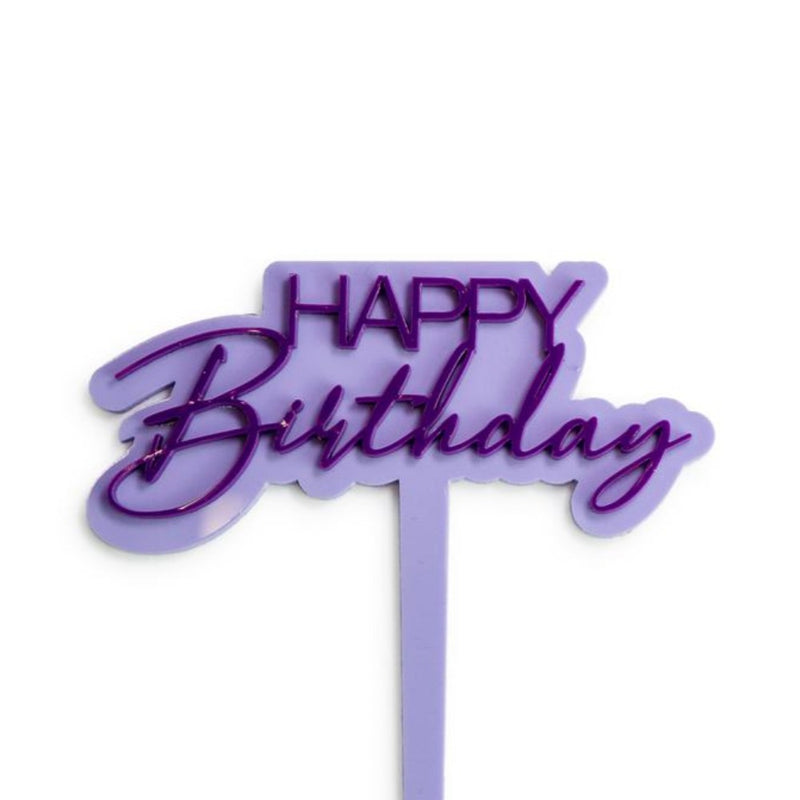 Mini Happy Birthday Pastel - Cake Topper
