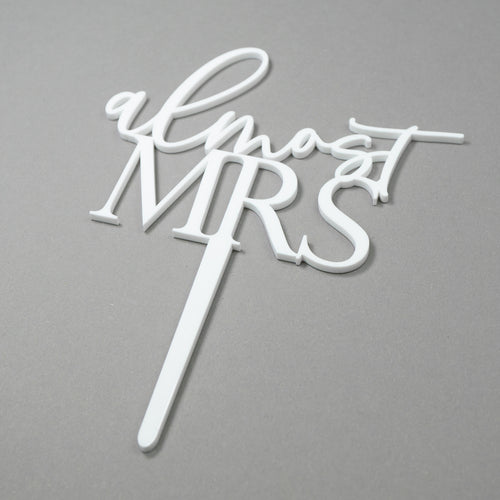 Mini Almost Mrs. - Cake Topper