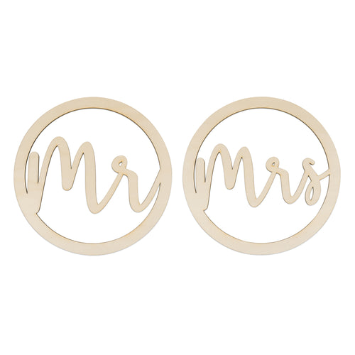 Mr Mrs Wooden Hoop Set