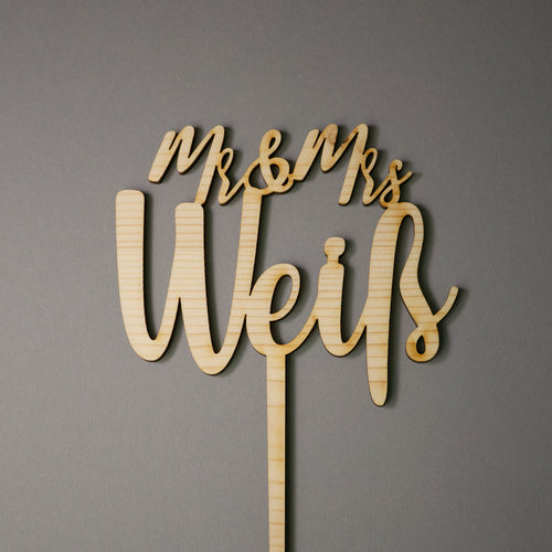 Mr & Mrs (Name) - Cake Topper - Zoi&Co