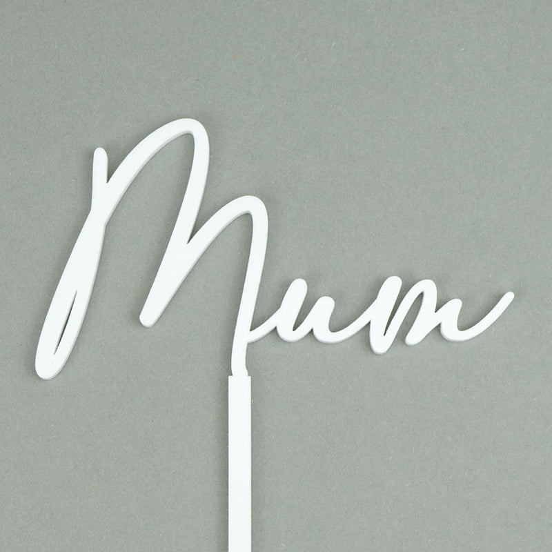 mum - mother's day cake topper front view zoiandco