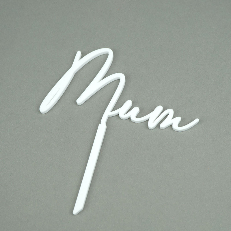 mum - mother's day cake topper side view zoi&co