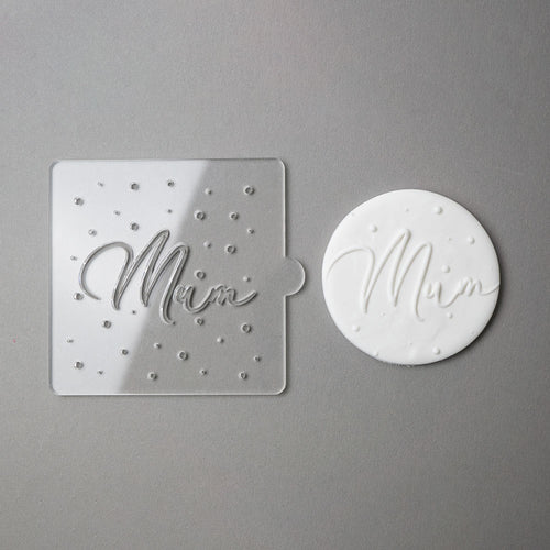 mum - mother's day tile embosser for cookies and fondant zoiandco