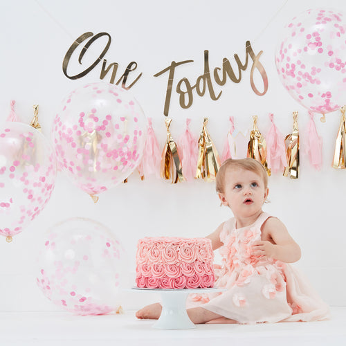 1st Birthday Pink - Cake Smash Kit - Zoi&Co
