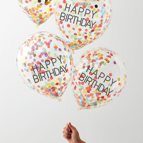Happy Birthday Rainbow- Party Balloon - Zoi&Co
