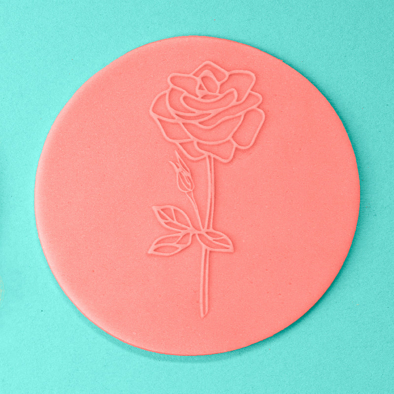 Blooming Rose - Easter Embosser example - front view - Zoi&Co