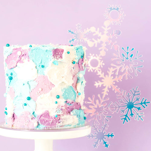 Snowflakes - Side Cake Topper