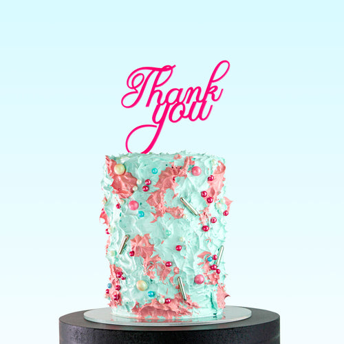 Mini Thank You Classic - Cake Topper on Cake