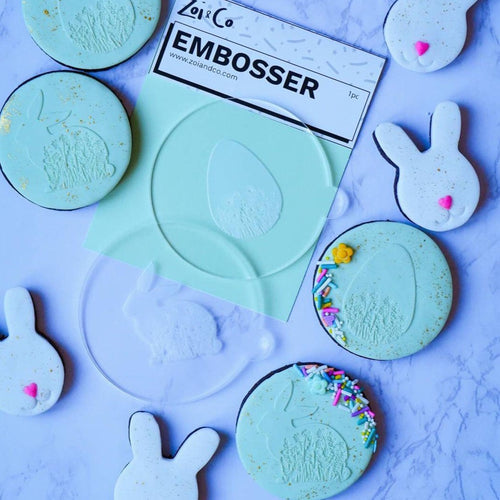 easter cookie embosser bunny egg