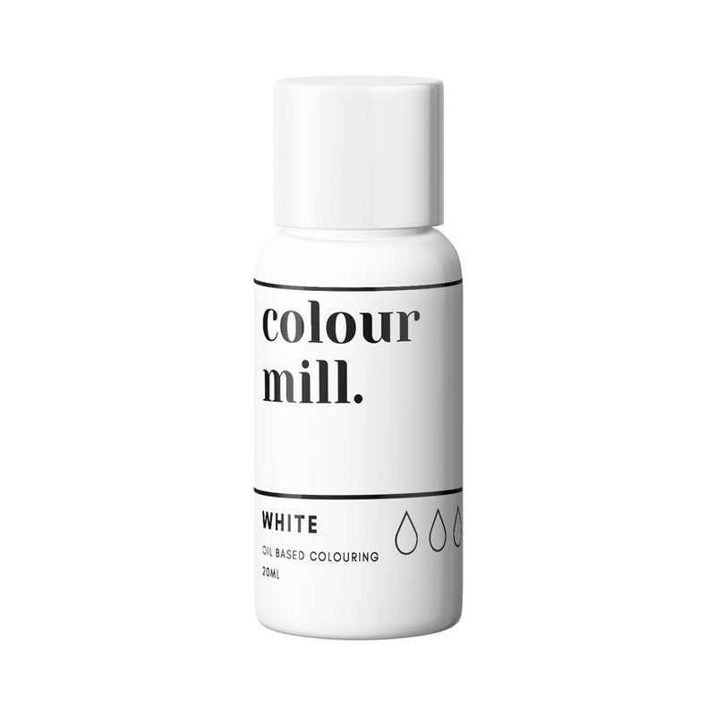 White 20ml - Oil Based Colouring - Zoi&Co