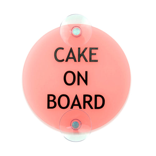 Cake On Board - Car Sign - Zoi&Co