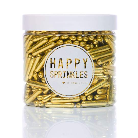 Gold Rods 90g - Sprinkles