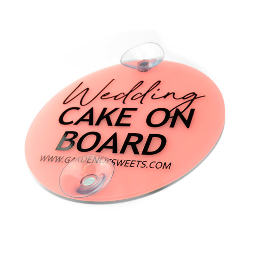 Wedding Cake On Board Car Sign - Zoi&Co