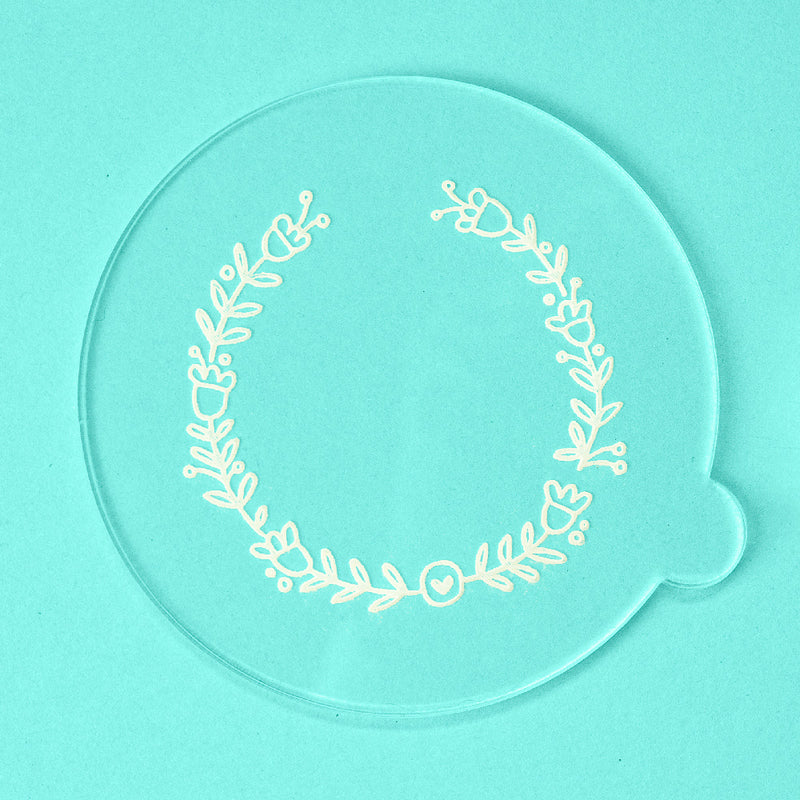 Simple Wreath - Easter Embosser - front view - Zoi&Co