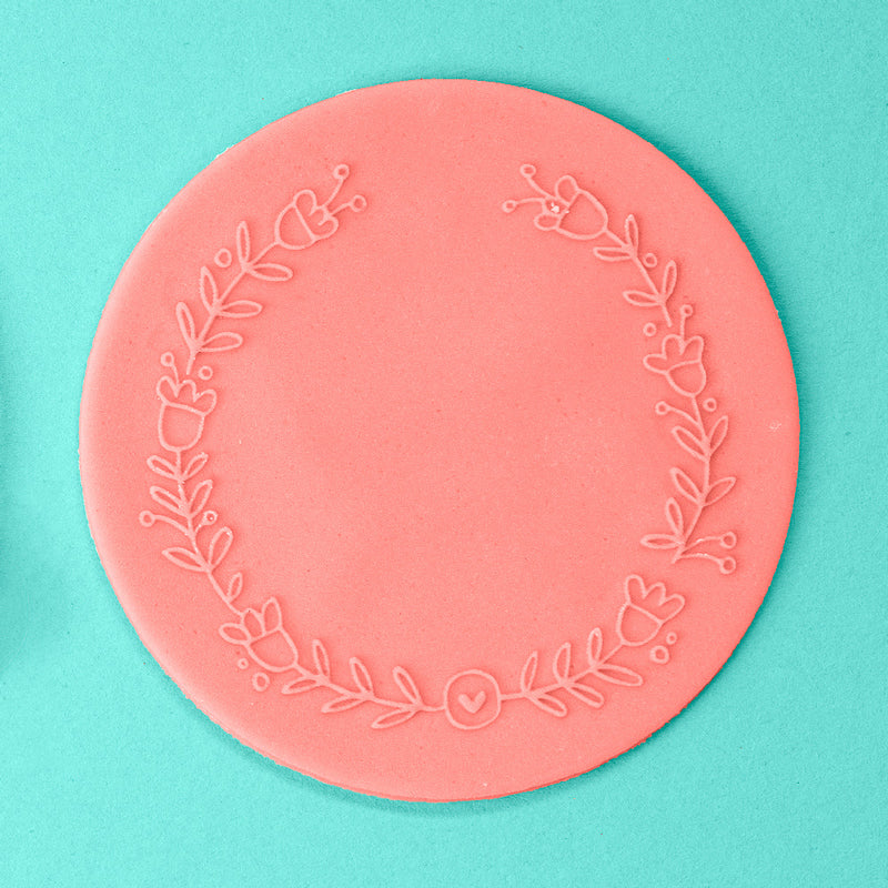 Simple Wreath - Easter Embosser example - front view - Zoi&Co