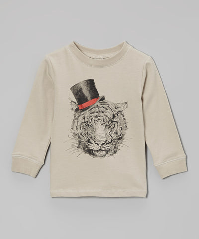 Organic Long Sleeve Graphic Tee - Tiger