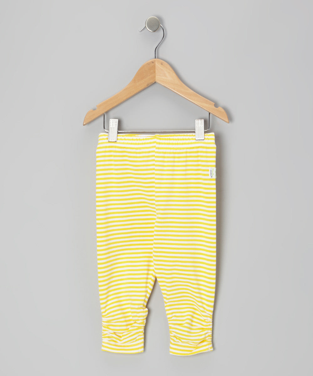 Yellow Stripe Capri Legging