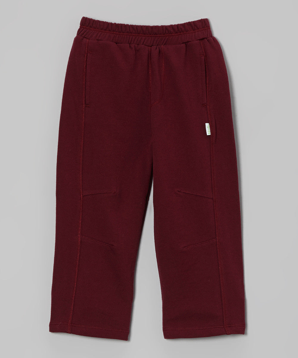 Maroon French Terry Pant