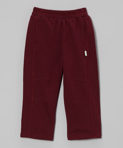Organic French Terry Pant - Maroon