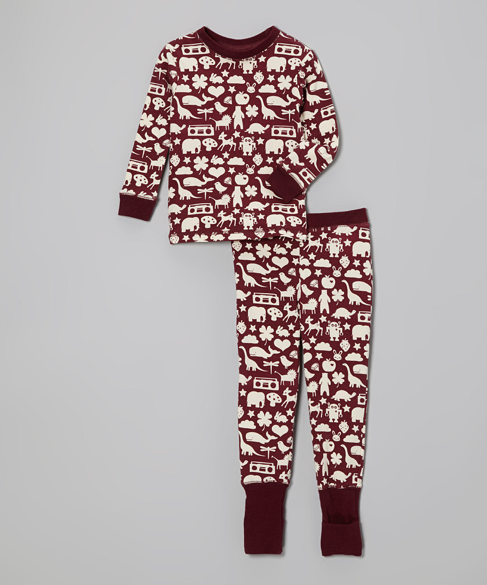 Maroon Wonder PJ Set