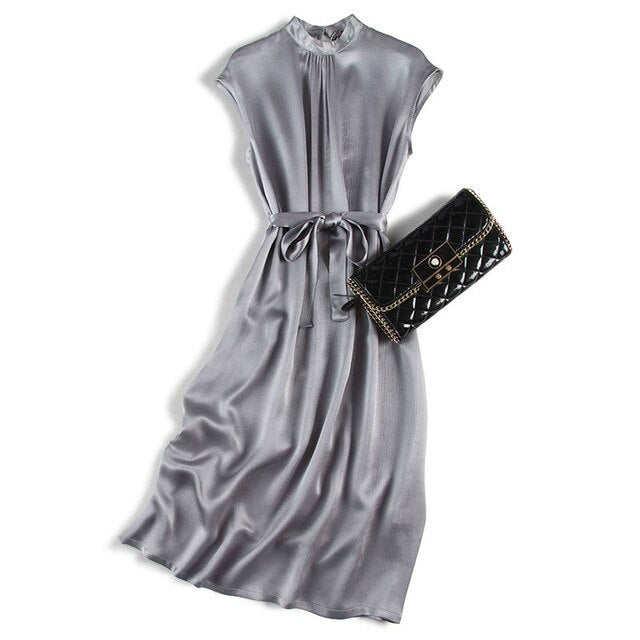 Korean Fashion Dresses Real Silk Vestido Noche Tallas Grandes Long Prom Dresses Robe Longue Femme Ete Boh Mian 2020 new