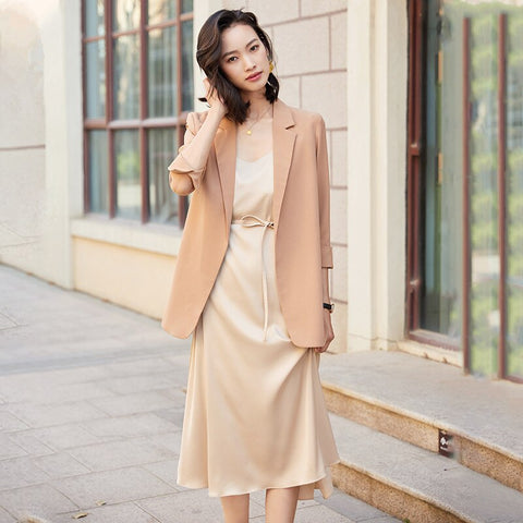 Trendy Clothes For Women 2020 Dress Suits 2 Piece Set Elegant Office Ladies Korean Spring Autumn Fall Work Wear Female Plus Size