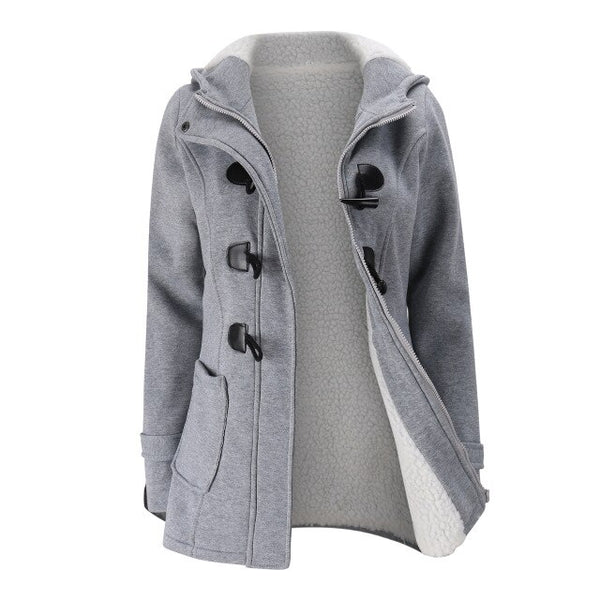 Winter Jacket Women Hooded Zip up Classic Cotton Velvet Thicken Coat Keep Warm Clothes Plus Size Pullover Outwear