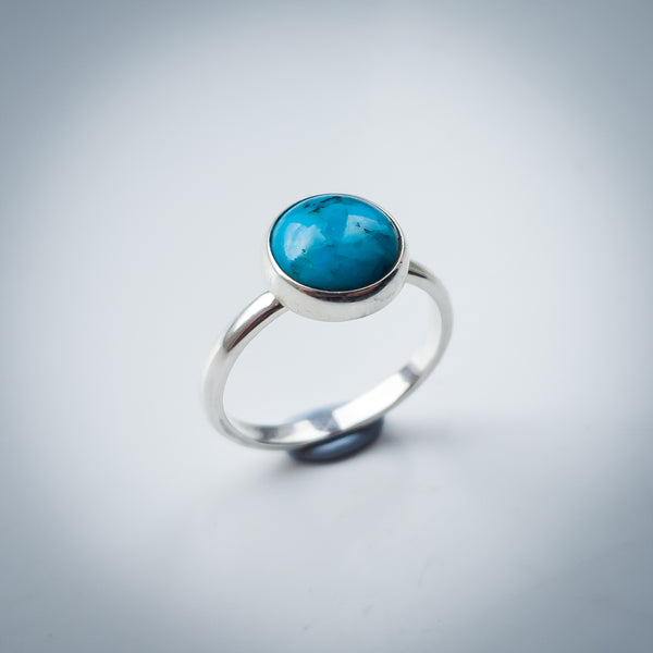Sterling Silver and Turquoise Ring - Simplicity