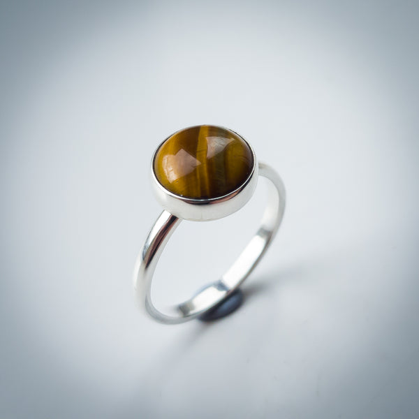 Sterling Silver and Tigers Eye Ring - Simplicity