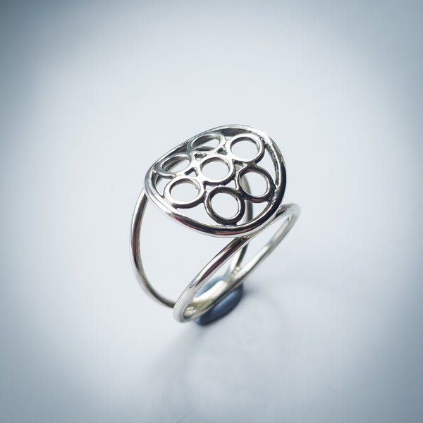Seven Circles Sterling Silver Ring