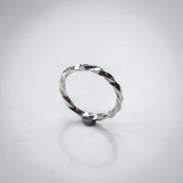 Sterling Silver Square Twist Ring