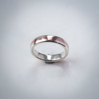 Sterling Silver & Copper Ring - 5mm Wide Band