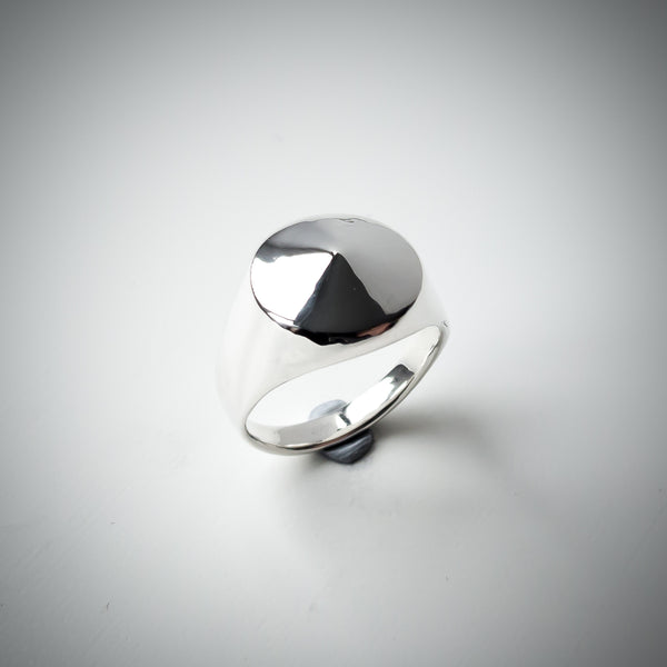 "Sterling Silver Signet Ring with a Single Point. Euclidean Collection - ""One"""