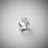 "Sterling Silver Signet Ring with a Triangular Face. Euclidean Collection - ""Three"""