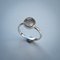 Sterling Silver and Moonstone Ring - Simplicity