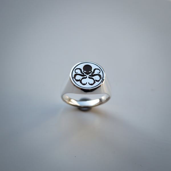 Hydra Ring - Sterling Silver Signet Ring - Hail Hydra!