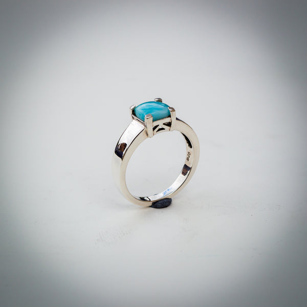 Sterling Silver and Larimar Gemstone Ring