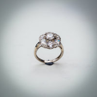 Sterling Silver and Cubic Zirconia Cluster Ring