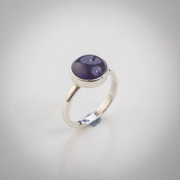 Sterling Silver and Amethyst Ring - Simplicity