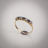 "9k Gold and Cubic Zirconia Half Eternity Ring - Size ""M"""