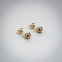 9k Yellow Gold Ball Stud Earrings
