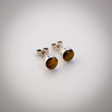 Sterling Silver Tigers Eye Stud Earrings