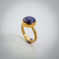 Gold and Lapis Lazuli Ring - Simplicity