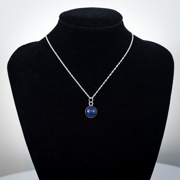 Sterling Silver and Lapis Lazuli Pendant Necklace - Simplicity