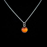 Sterling Silver and Amber Pendant Necklace - Simplicity